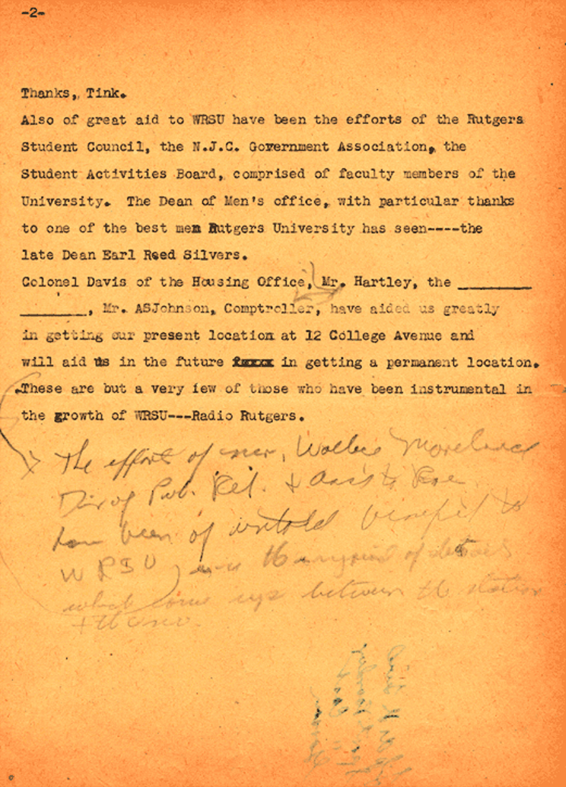 Charles Brookwell Original Script from April 26, 1948 - Page 2
