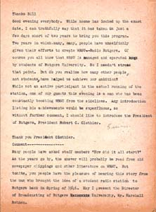 Charles Brookwell Original Script from April 26, 1948 - Page 1