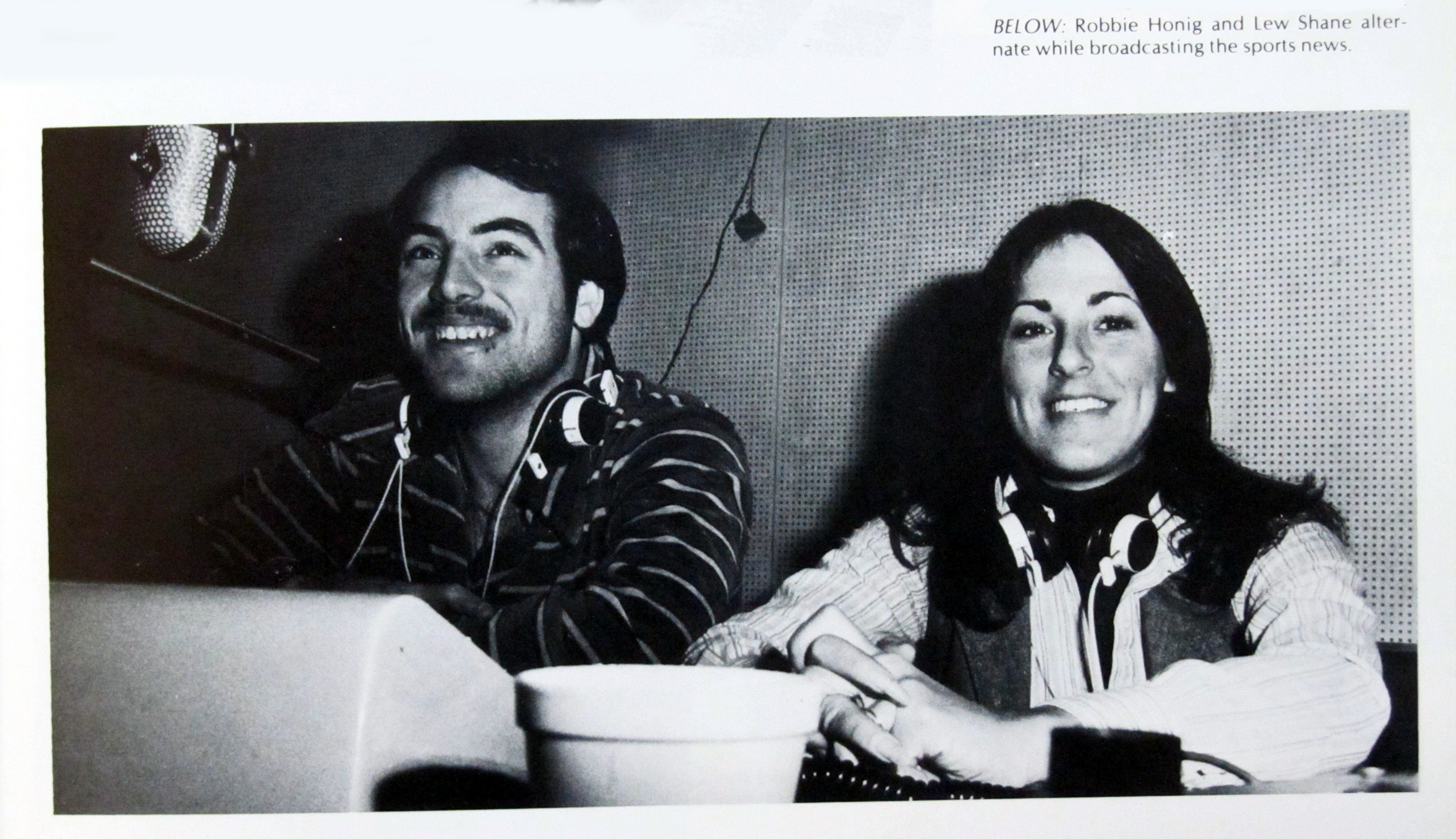 1979 - Lew Shane and Robbie Honig in Studio A doing the News