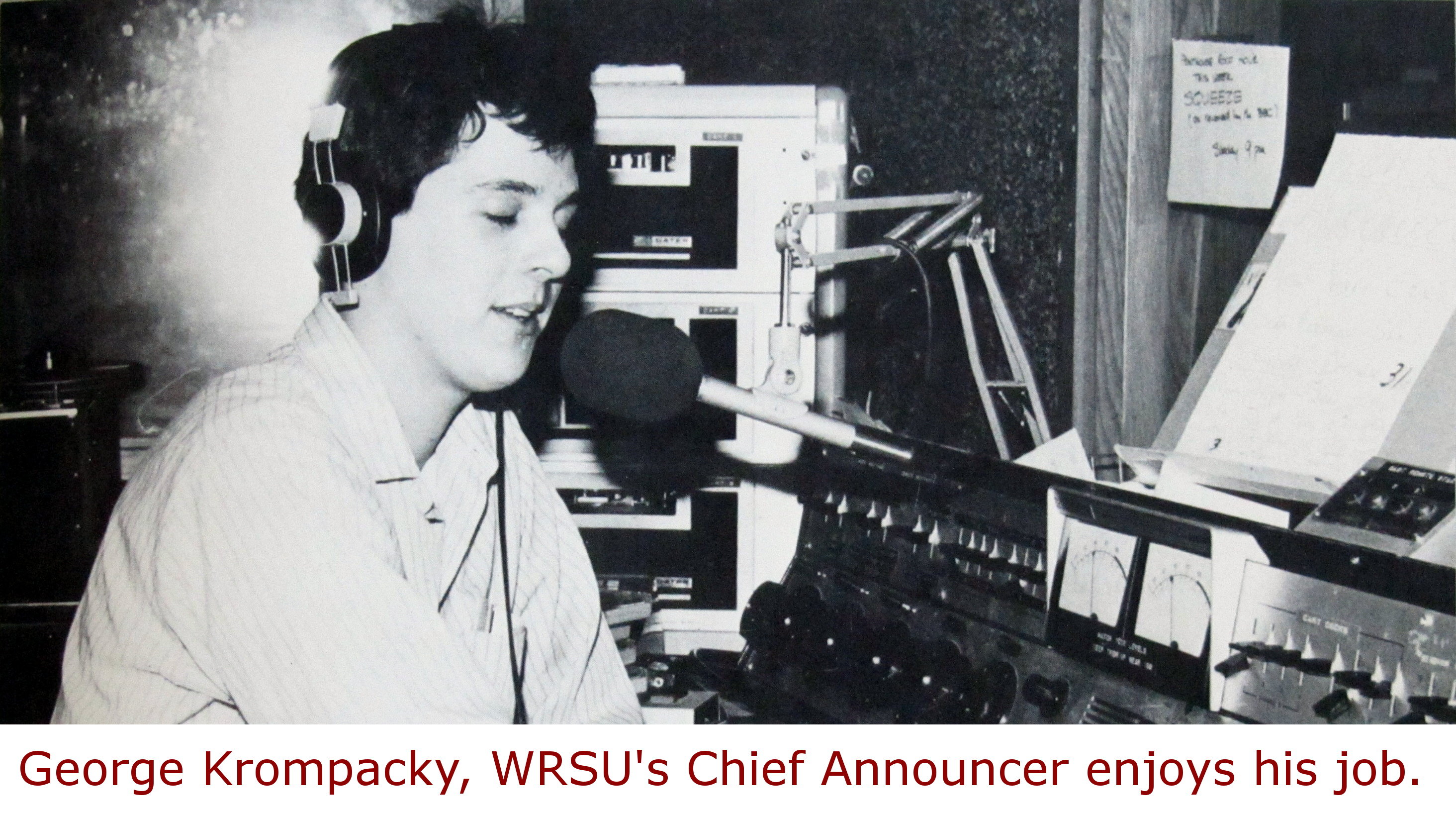 1984 Chief Announcer - George Krompacky