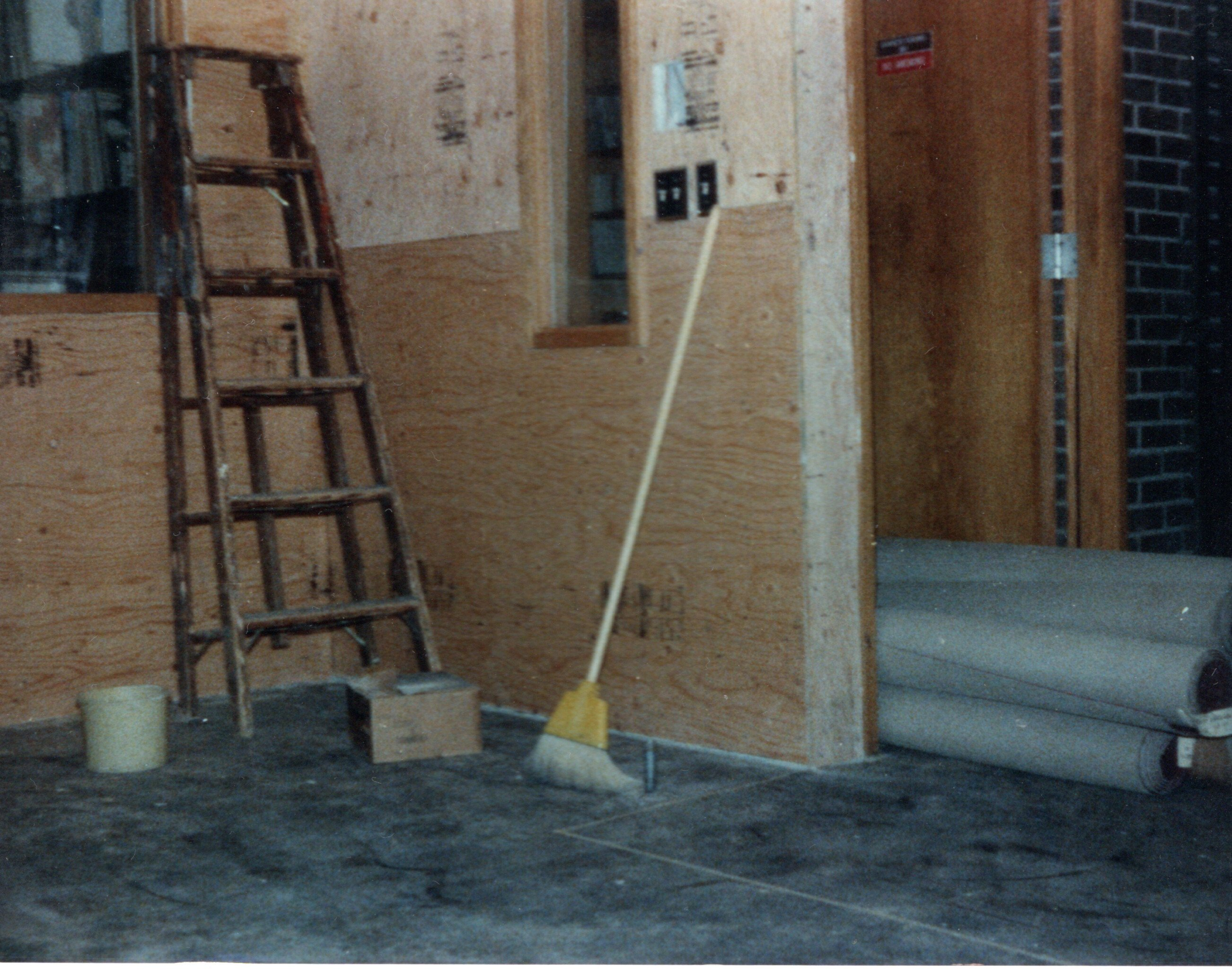 1985-Production Rebuild - The room empty with the new walls