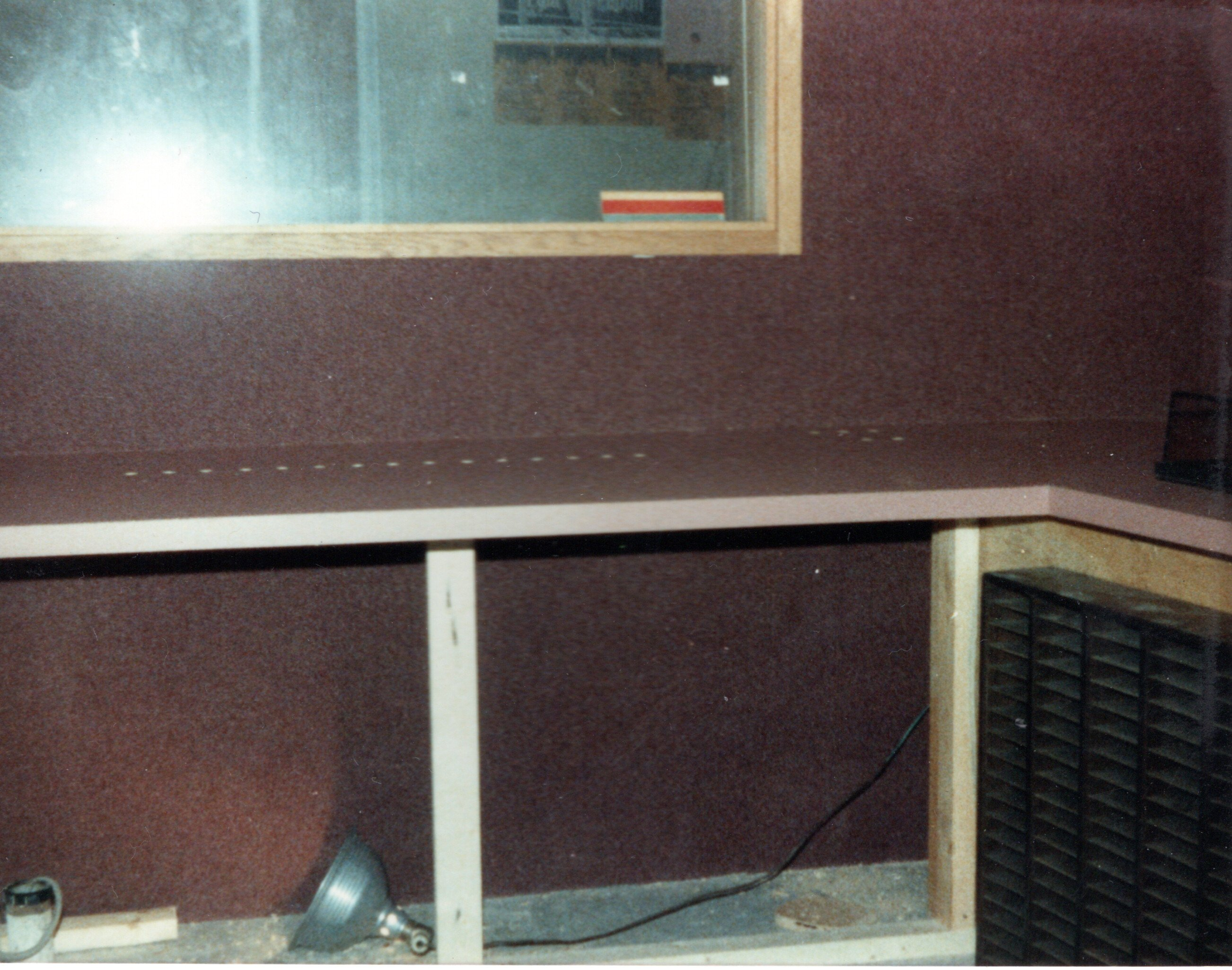 1985-Production Rebuild - With the wall Covering in place and the cabinets coming along.