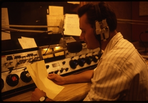 1987 WRSU Orientation Slide Show<br/>FM Control Gate Executive Console<br>Slide #4