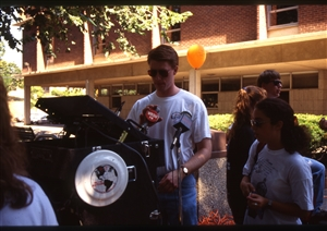 1987 WRSU Orientation Slide Show<br/>WRSU on a Remote<br>Dallas Herold<br>Slide #31_2
