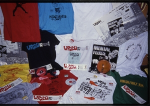 1987 WRSU Orientation Slide Show<br/>WRSU Give aways<br>Slide #32