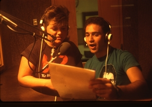 1987 WRSU Orientation Slide Show<br/>Production Team<br>Slide #35