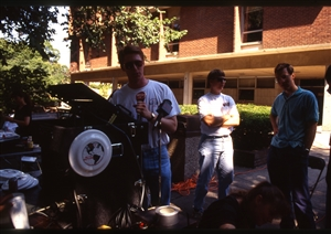 1987 WRSU Orientation Slide Show<br/>WRSU on a Remote<br>Dallas Herold, Greg Nelson, Dan Schleck<br>Slide #43