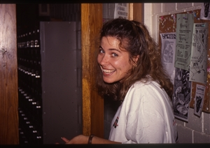 1987 WRSU Orientation Slide Show<br/>Shannon Welcoming you to WRSU<br>Slide #49
