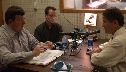 2001 - President McCormick on the Air on WRSU-FM