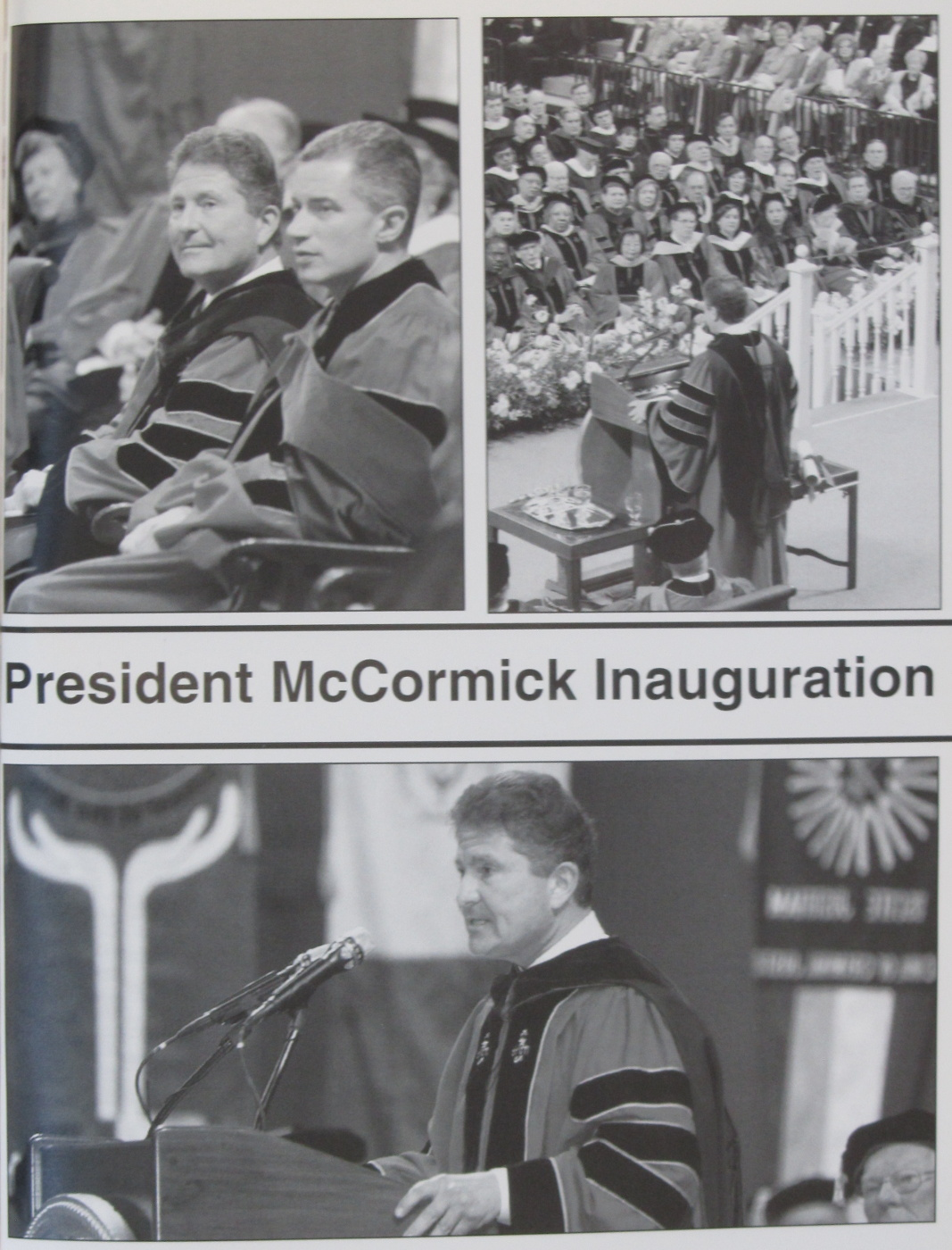 2003 President McCormick Inauguration - WRSU covered the event.